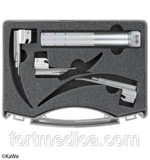Ларингоскопический набор, для использования в неонаталогии, 1 рукоятка + 3 клинка KaWe