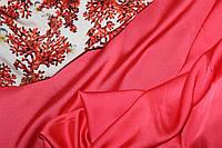 Ткань шелк Армани цвет коралл , фото 1