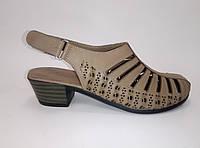 Женские кожаные босоножки на каблуке ТМ Anna Lucci, фото 1