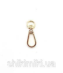 Карабин для сумок KR20-3 (10 мм), цвет золото