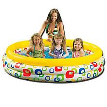 Бассейн надувной детский, размер 168-41см