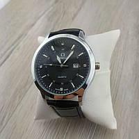 Мужские наручные часы Omega серебро с черным циферблатом 22353 реплика