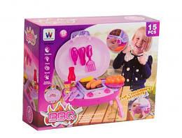 Набор для барбекю игрушечный, для девочек, 15 элементов