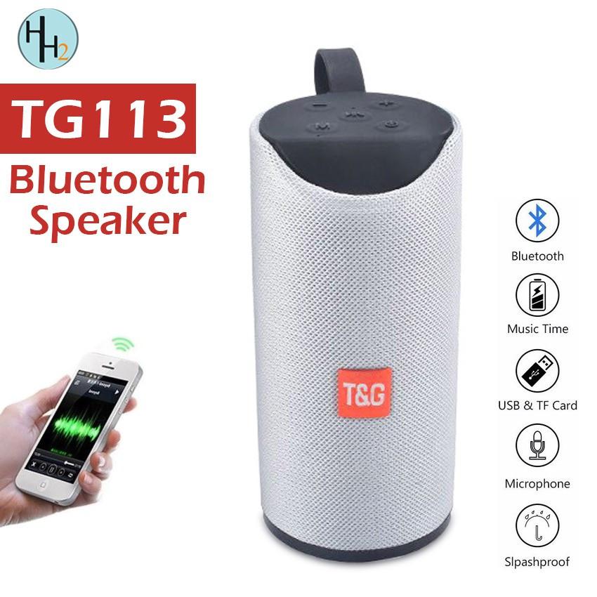 Портативная bluetooth колонка TG-113 grey