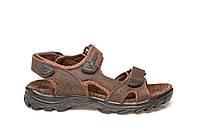 Женские кожаные сандали босоножки коричневые Restime 19117