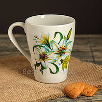 Кружка бархан, Цветы - 350 мл (Farn)