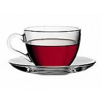 Чашка с блюдцем - 240 мл (Pasabahce) Basic