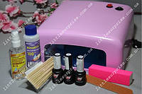 Стартовый набор для маникюра My Nail с УФ лампой 36W (1 цветной лак)