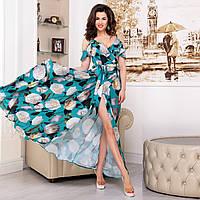 """Платье цветочный принт 2020, сарафан летний длинный """"Акапулько роуз"""", фото 1"""