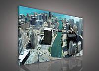 "Картина на холсте ""Город Чикаго "" 100х75 см (PP114O1)"