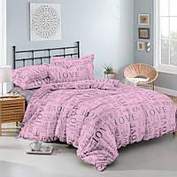 Комплект постельного белья (12067) двуспальное евро 200*220 (простынь на резинке) бязь Ранфорс, фото 1