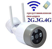 4G-2L Wi-Fi камера видеонаблюдения с сим картой