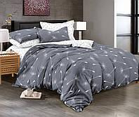 Комплект постельного белья (12069) двуспальное евро 200*220 (простынь на резинке) бязь Ранфорс , фото 1