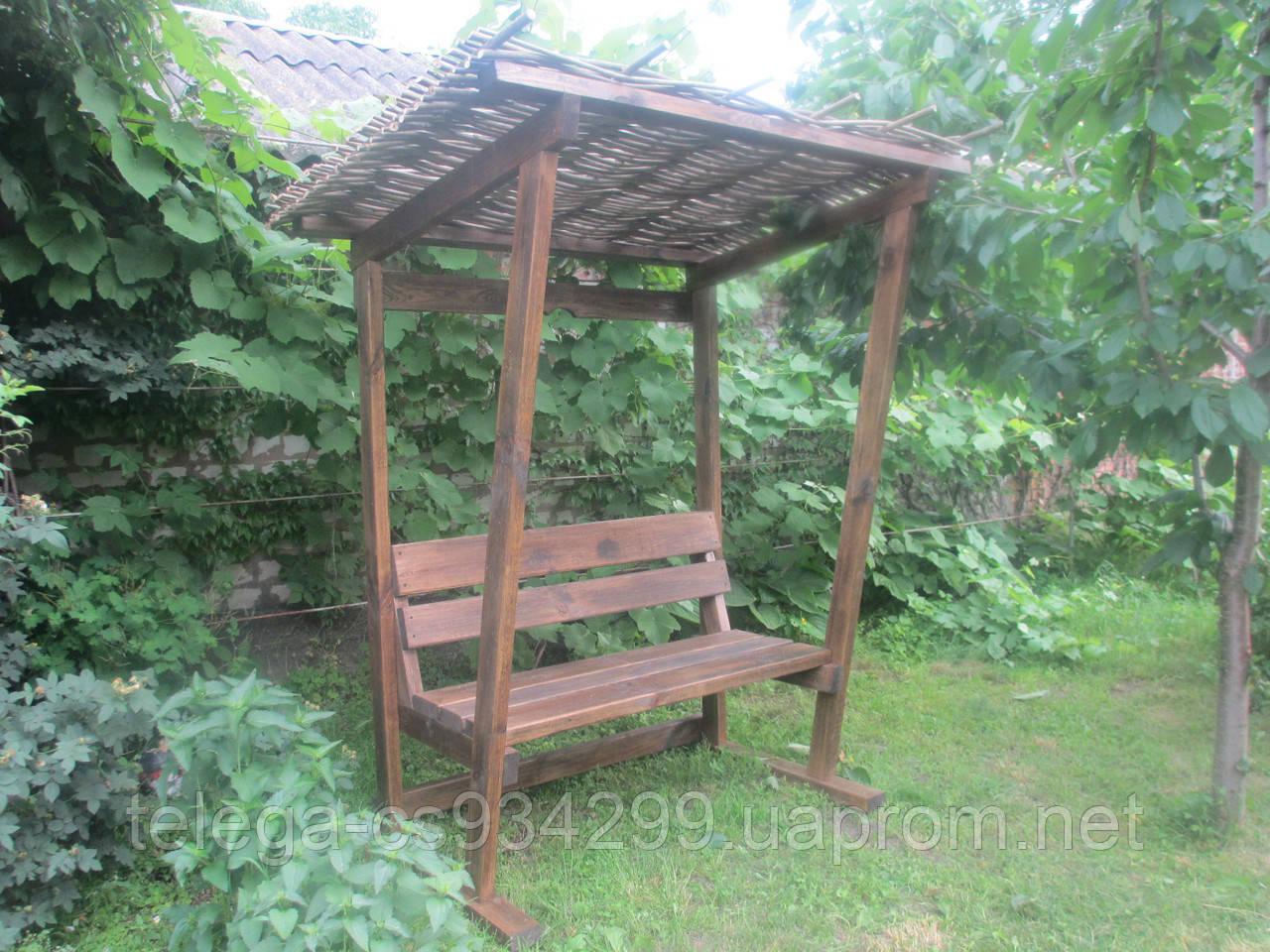 Скамейка с крышей