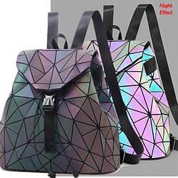 Модный женский городской рюкзак формата а4 Хамелеон Бао Бао ночной алмаз, Bao Bao Issey Miyake 3002