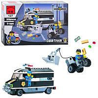 Конструктор BRICK 457833/127 Поліцейська серія, машинка, 209 деталей, фігурка, в коробці, 28,5-19-4,5 см