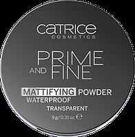 Водостойкая пудра Prime And Fine Mattifying Powder Waterproof 010 Translucent