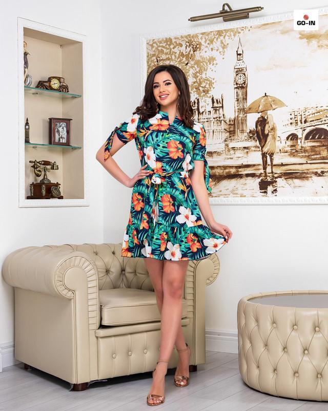 Платье женское летнее с цветами