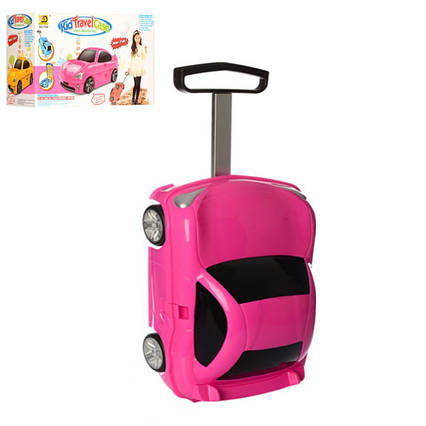 Детский чемодан-машина РОЗОВЫЙарт. 1211