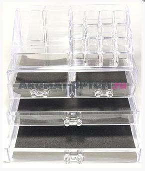 Акриловый органайзер для косметики DRESSING CASE W/4 DRAWER, фото 3