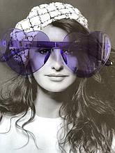 Фиолетовые очки сердечки