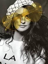 Солнцезащитные стильные желтые очки