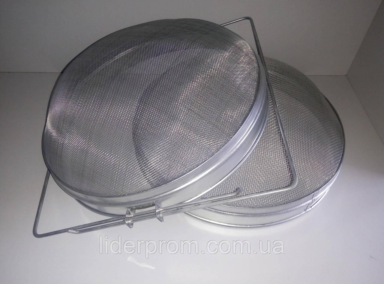 Фильтр-сито двойной  для меда 300 мм. нержавеющая сталь