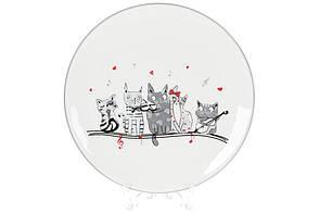 Керамічна тарілка з об'ємним малюнком Нічна серенада, 20см, DM529-M