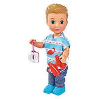 Кукольный набор кукла Тимми Прогулка с питомцем с аксессуарами Simba Toys Evi Love 12 см 5733230, фото 1