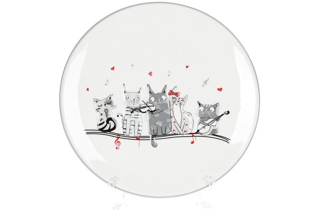 Тарелка керамическая с объемным рисунком Ночная серенада, 24см, DM530-M