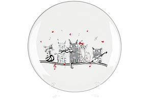 Керамічна тарілка з об'ємним малюнком Нічна серенада, 24см, DM530-M