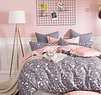 Комплект постельного белья (12073) двуспальное евро 200*220 (простынь на резинке) бязь Ранфорс, фото 1