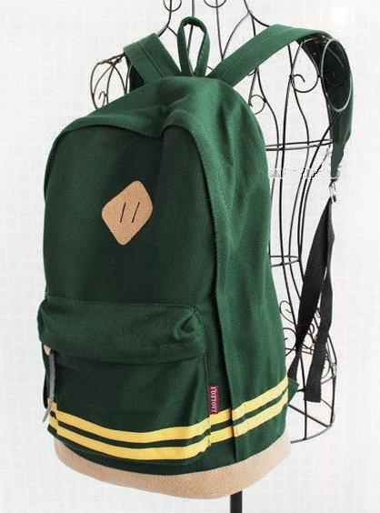 Рюкзак городской (міський рюкзак) с полосками зеленый (977484932)