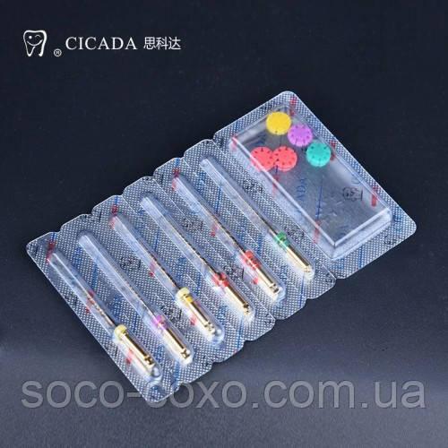 Профайлы CICADA Niti Endodontic files 04/45 набор, 25 мм, 6 шт./упак.