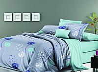Комплект постельного белья (12078) двуспальное евро 200*220 (простынь на резинке) бязь Ранфорс