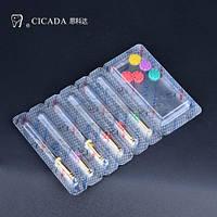 Профайлы CICADA Niti Endodontic files 04/40 набор, 25 мм, 6 шт./упак.
