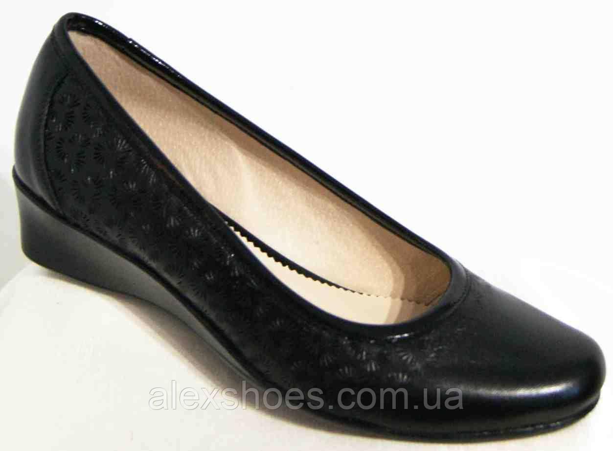 Туфли женские большого размера из натуральной кожи от производителя модель В3203-7
