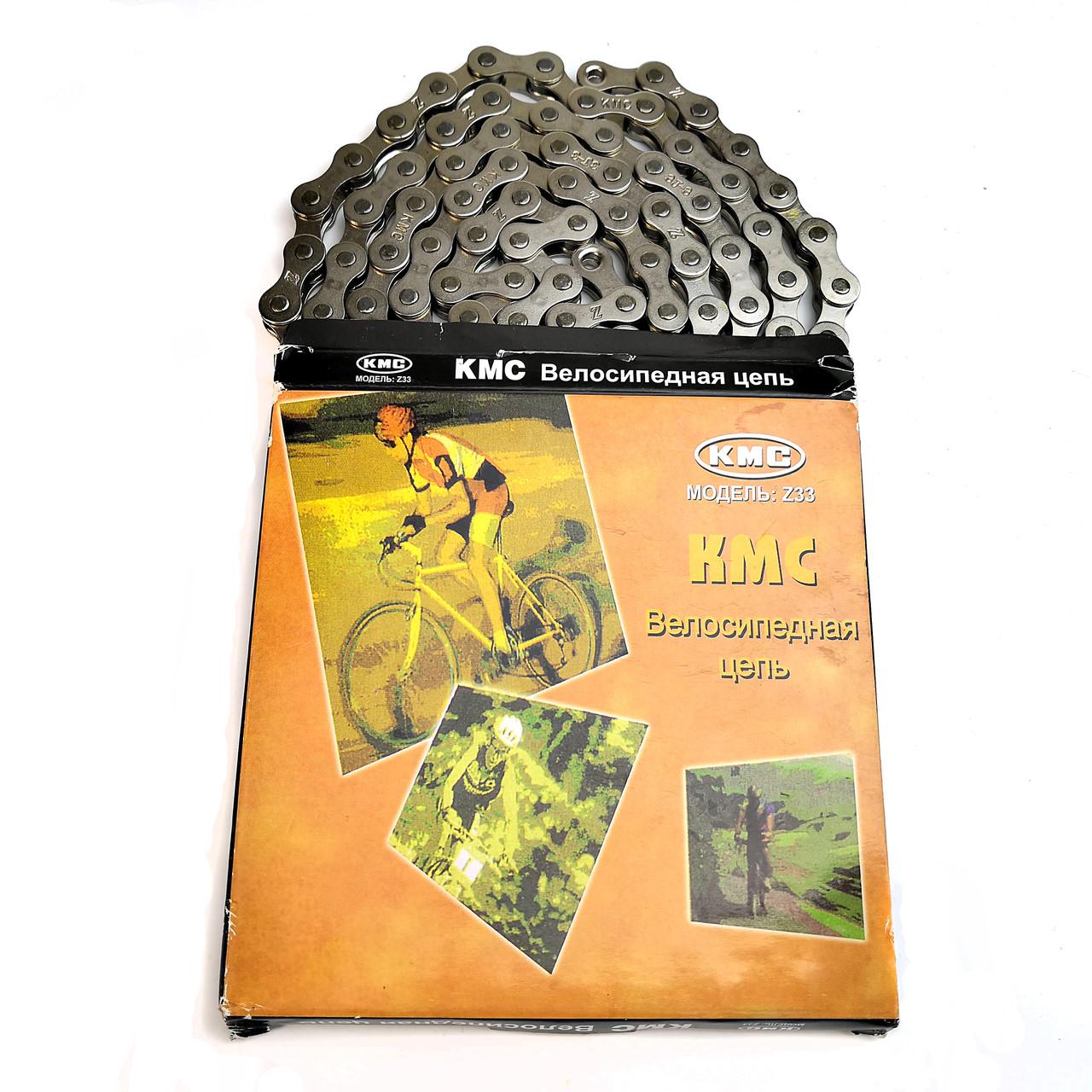 Велосипедная цепь KMC Z33 под 6 звезд, хром