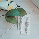 Акуратні сережки кольору срібло, фото 3