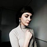 Акуратні сережки кольору срібло, фото 2