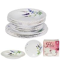 Набор посуды обеденный 18 предметов Прованс, стеклокерамика 450-120-18