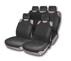 Комплект чехлов на сидения автомобиля (майки) 510-5 (9 предметов) черный