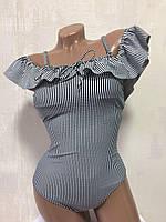 Купальник женский сдельный ,черно -белый , M&M Secret 3941, фото 1