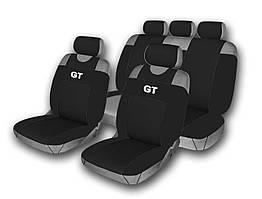 Комплект чехлов на сидения автомобиля (майки) 514-5 (9 предметов) черный GT