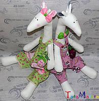 Интерьерная мягкая игрушка, кукла ручной работы. Жираф