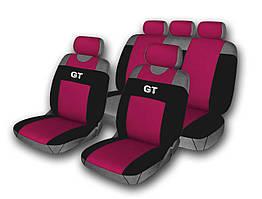 Комплект чехлов на сидения автомобиля (майки) 514-5 (9 предметов) бордо GT