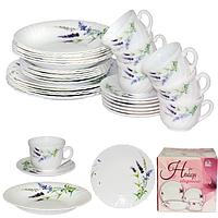 Набор посуды обеденный 30 предметов Прованс, стеклокерамика 450-120-30