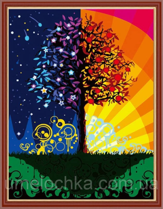 Картина по номерам  Дерево счастья 40 х 50 см(CG224)