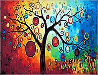 Раскраска по цифрам Дерево богатства40 х 50 см(CG230)