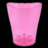 Кашпо для орхидей Ника 16см прозрачный /тонированный/